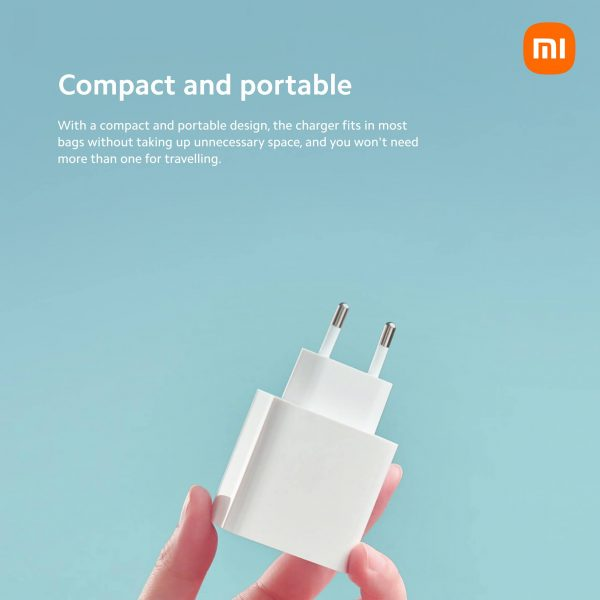 Mi 33W Wall Charger (Type-A + Type-C) EU iPhone شاحن شاومي